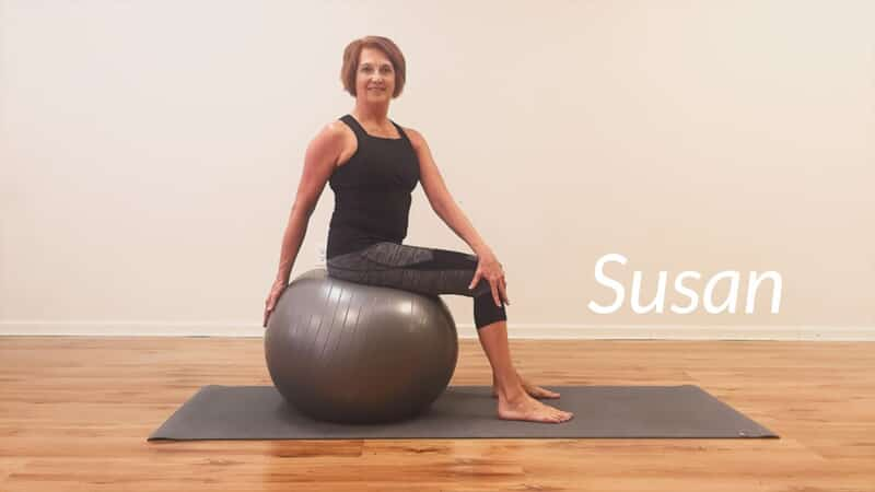 Susan Sitting on Stability Ball